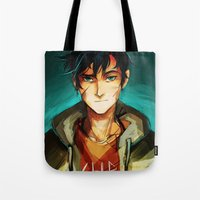 viria Tote Bags featuring the son of neptune by viria