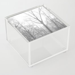 Black and White Forest Illustration Acrylic Box