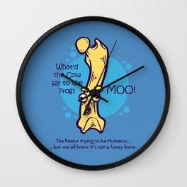 Not So Funny Bone Wall Clock