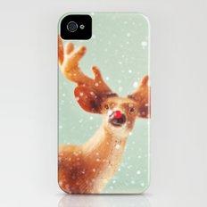 holiday deer Slim Case iPhone (4, 4s)