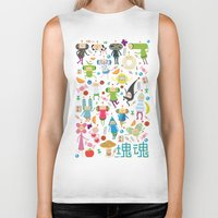 katamari Biker Tanks featuring KATAMARI DAMACY by Erin Lowe