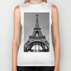 Tower Eiffel En Noir Biker Tank