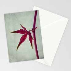 The red leaf Stationery Cards