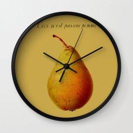Ceci n'est pas une pomme  Wall Clock