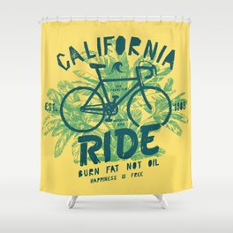 California Bicycle Ride Shower Curtain