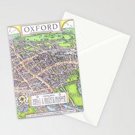 OXFORD university map ENGLAND dorm decor Stationery Cards