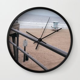 The Rails of Sand Wall Clock
