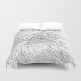 Bern Map Line Duvet Cover
