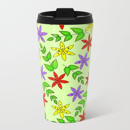 Pattern Q Metal Travel Mug