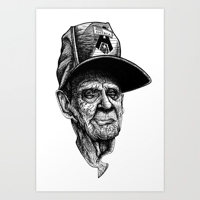 elder man head Art Print