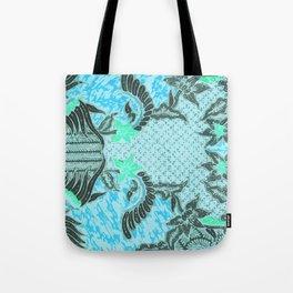 Bali Batik turquoise Tote Bag