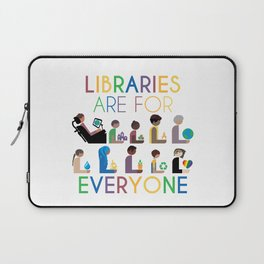 Rainbow Libraries Are For Everyone Laptop Sleeve
