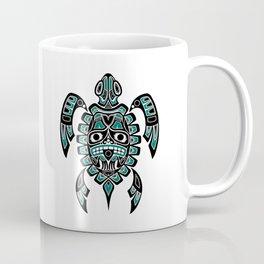 Vintage Teal Blue Haida Spirit Sea Turtle Coffee Mug