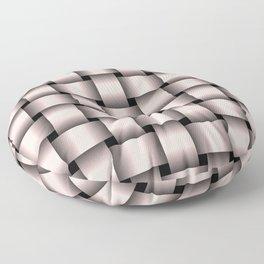 Large Pastel Pink Weave Floor Pillow