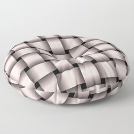 Large Pastel Pink Weave Floor Pillow