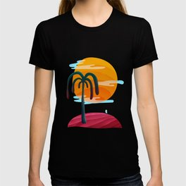 058 - Cute little Owly relaxing on the island T-shirt