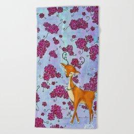 Hello, Deer! Beach Towel