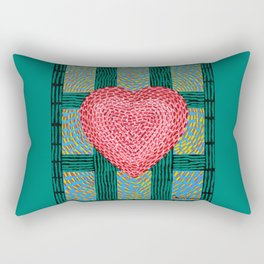Teal and Pink Energy Heart Rectangular Pillow