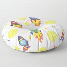 Rocket Ships Floor Pillow