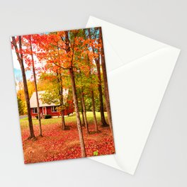 new england cottage Stationery Cards