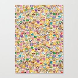 Emoticon pattern Canvas Print