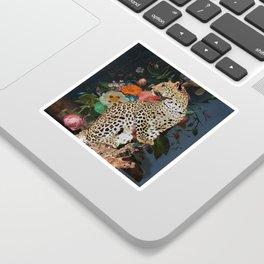golden age leopard Sticker