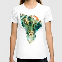 african T-shirts featuring African Wildlife by RIZA PEKER