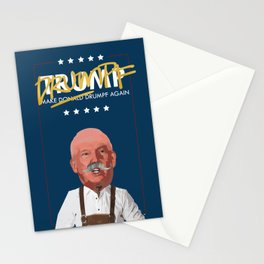 A MAN, HIS GOLD SHARPIE AND HIS LEDERHOSEN. Stationery Cards