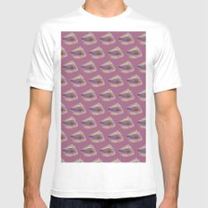 Shells on Pink Mens Fitted Tee White MEDIUM