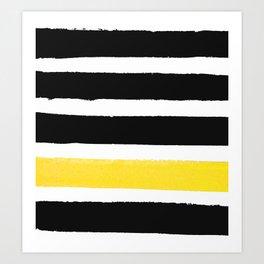 Watercolour Yellow Pop Art Print