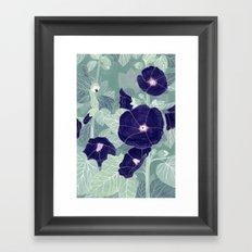 Dark florals Framed Art Print