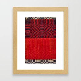 Fabric Art Red Framed Art Print