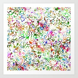Abstract Microbes Art Print
