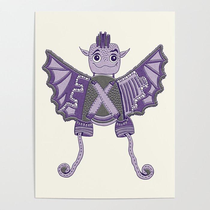 Robot Alien Monster No 258 Poster