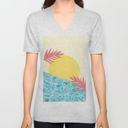 Tropical landscape Unisex V-Neck