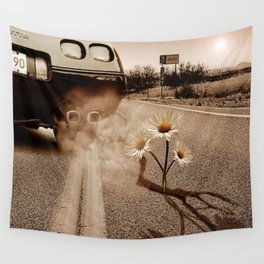 Exhausting Pipe Flowers Wall Tapestry