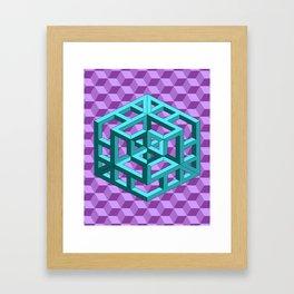 impossible patterns Framed Art Print