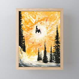 Fire Sky Framed Mini Art Print
