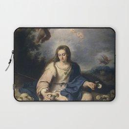 Bernardo Germán de Llórente - The Virgin as a Shepherdess Laptop Sleeve