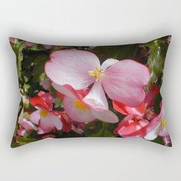 Begonia in the Rose Garden Rectangular Pillow