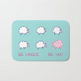 Be unique be you Bath Mat