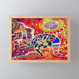 BORA THE KANGAROO 3 Framed Mini Art Print