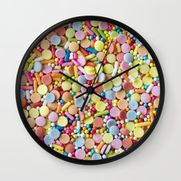 Rainbow Candy Sprinkles Wall Clock
