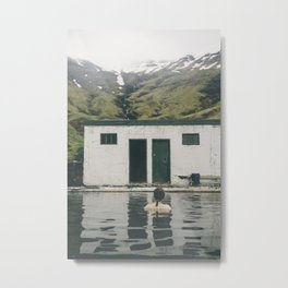 One of the oldest swimming pools in Iceland Metal Print
