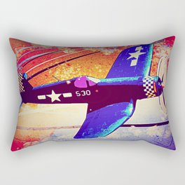 F4U Corsair Pop Art Rectangular Pillow