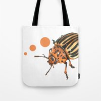insect Tote Bags featuring Insect by Chiara Martinelli Creations