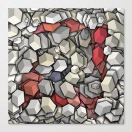 Chaotic 3D Cubes Canvas Print