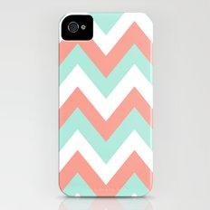MINT & CORAL CHEVRON Slim Case iPhone (4, 4s)