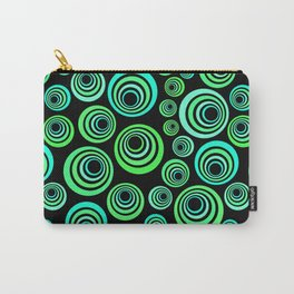 Neon blue and green Carry-All Pouch