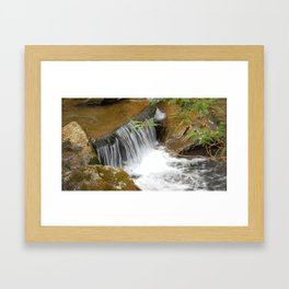 Smokey Mountain National Park Stream / Waterfall Framed Art Print